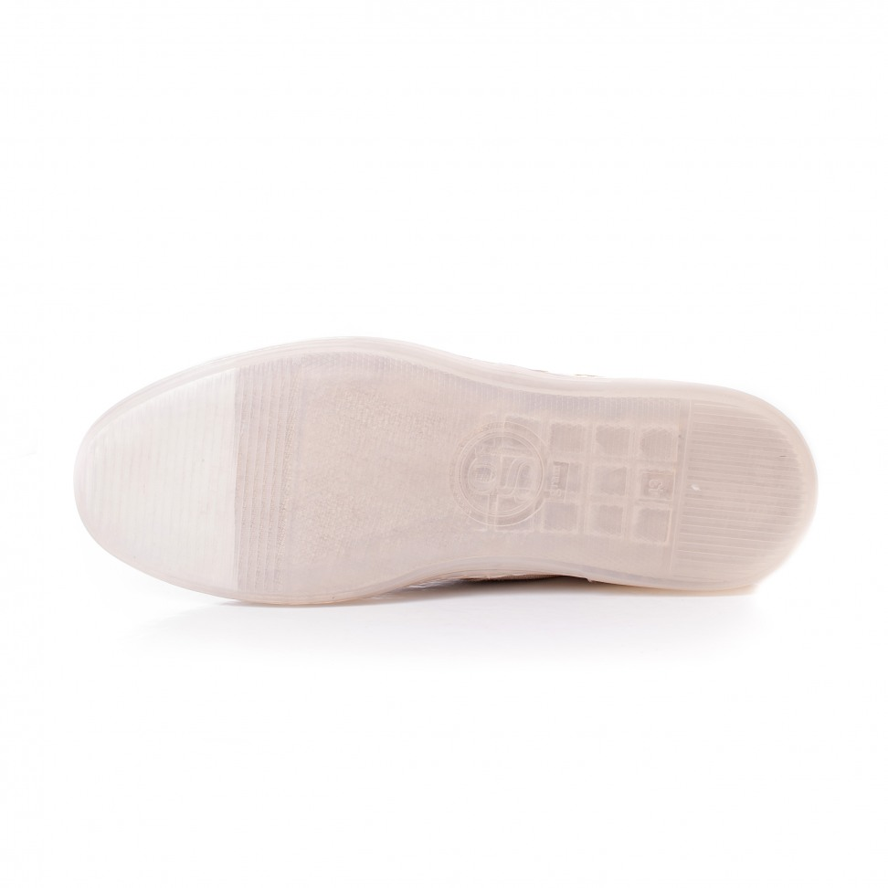 Gram 383g natural linen white print toe