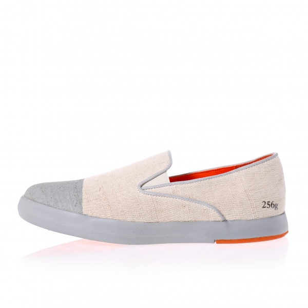 Gram 256g natural linen grey print toe