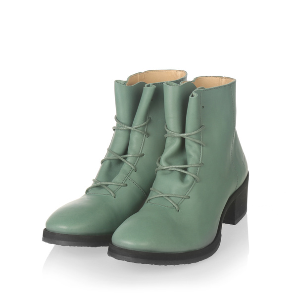 Yatfai Yatfai boot verde leather