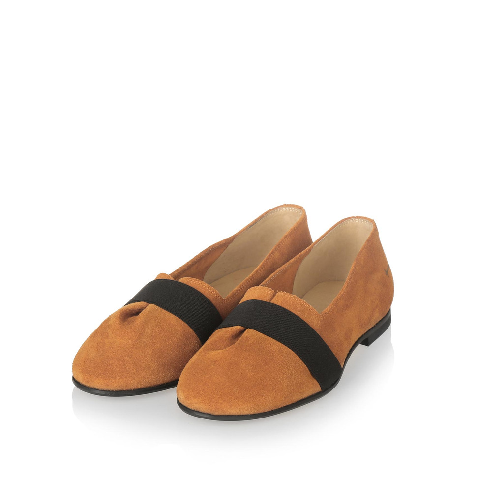 Yatfai Yatfai ballerina tobacco leather