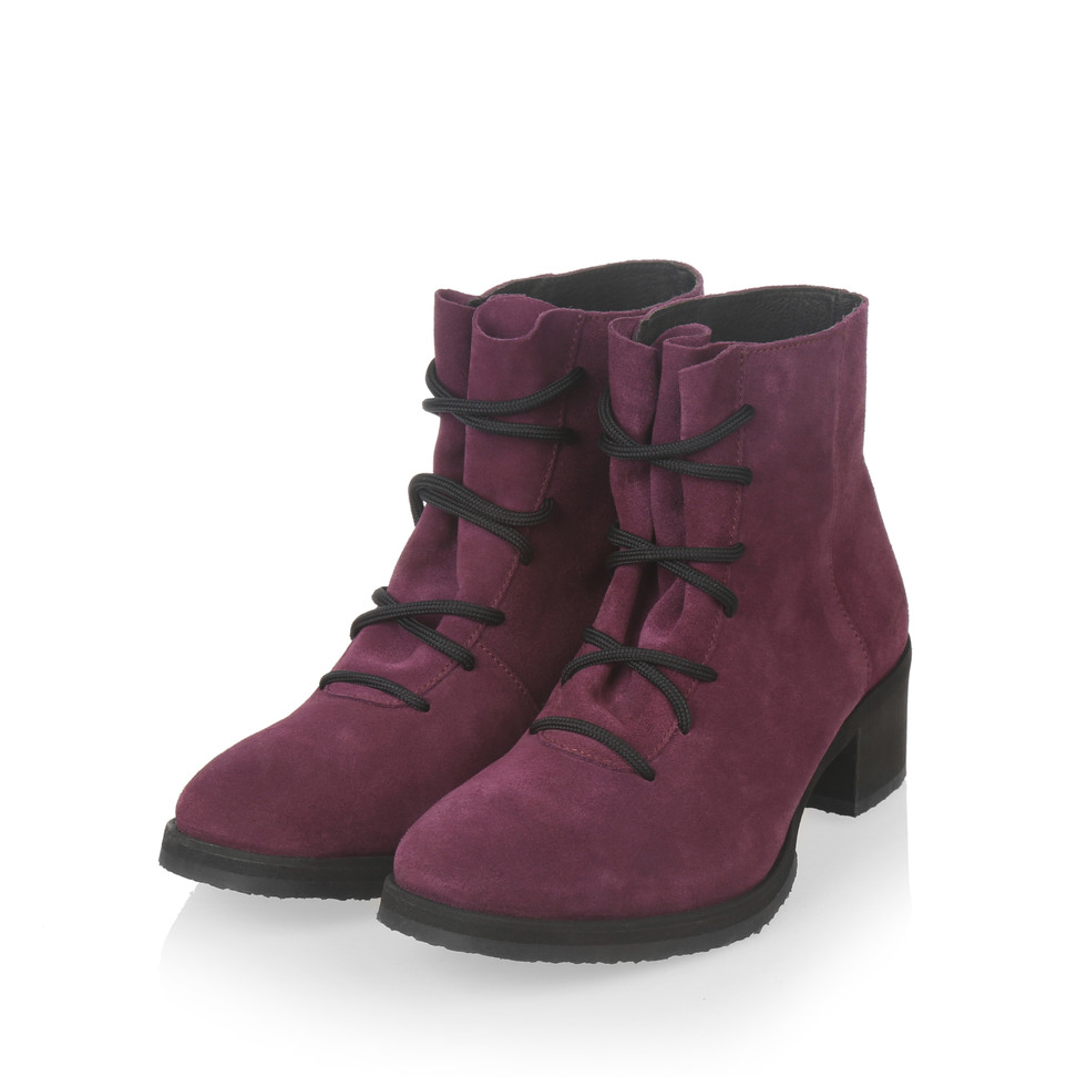 Yatfai yatfai boot purple suede