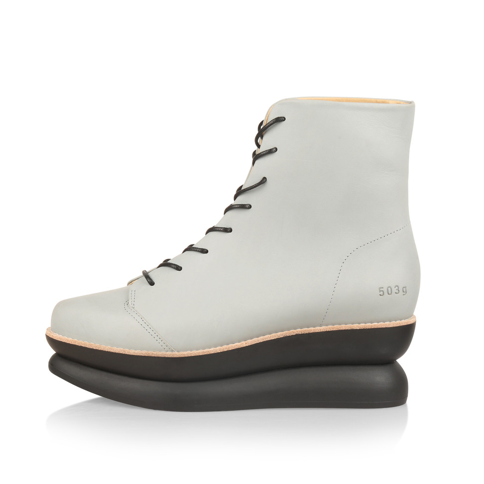 Gram 503g sage leather lace up